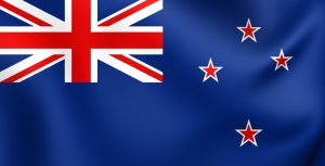 Flag of New Zealand. Close Up.