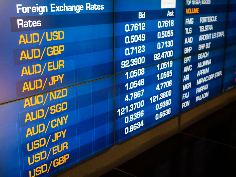 Foreign Exchange Rates Chart