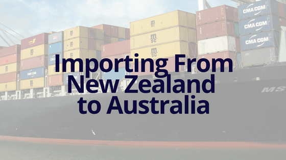 Ship Importing Goods from New Zealand