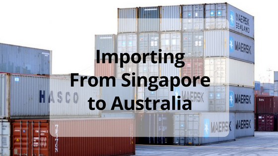 Ship Importing Goods from Singapore