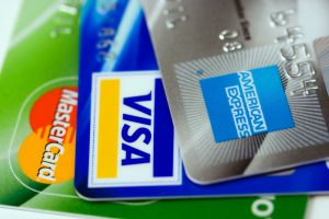 American express, visa and mastercard