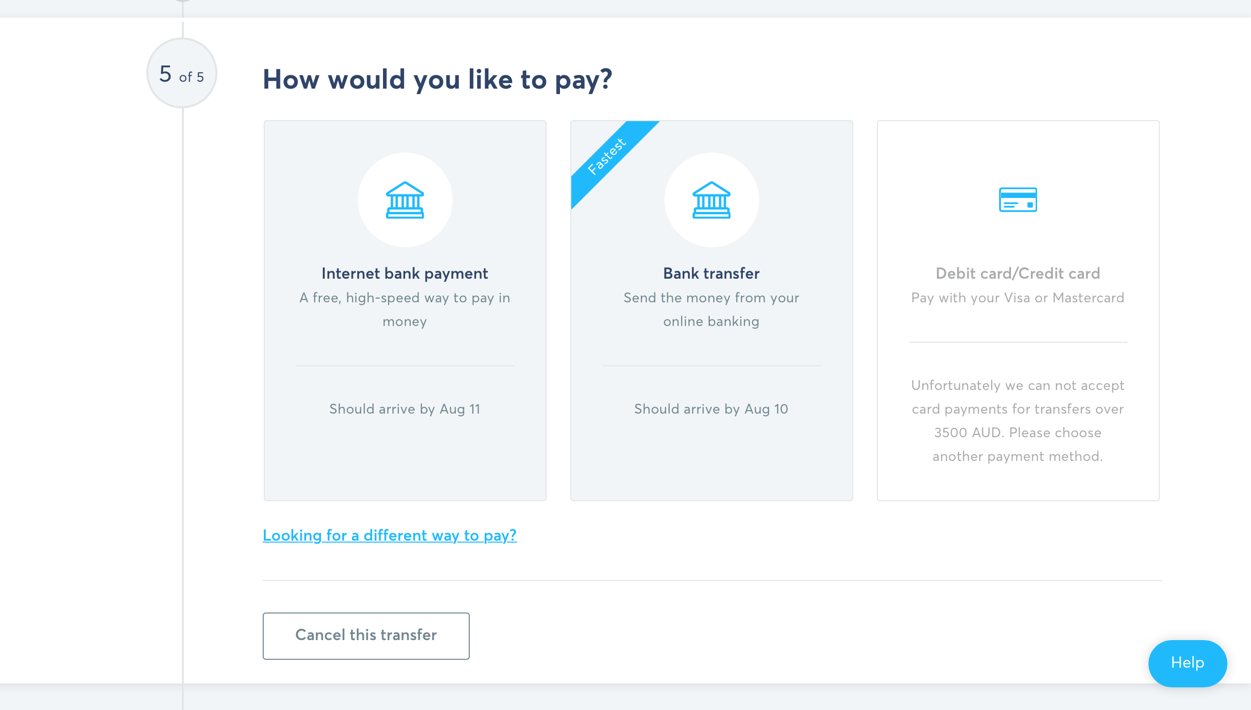 How to send money overseas with TransferWise Step 7
