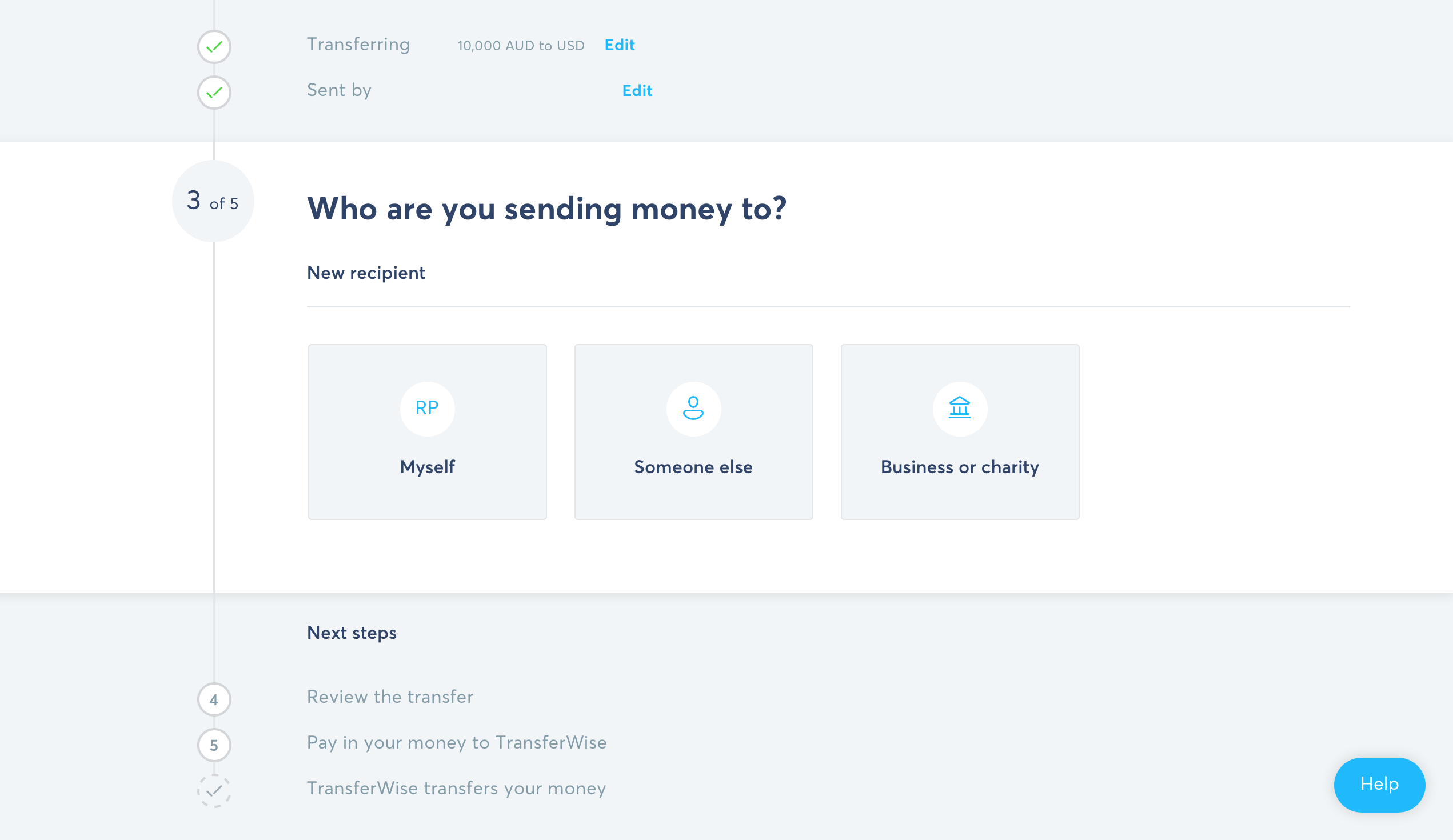 How to send money overseas with TransferWise Step 5