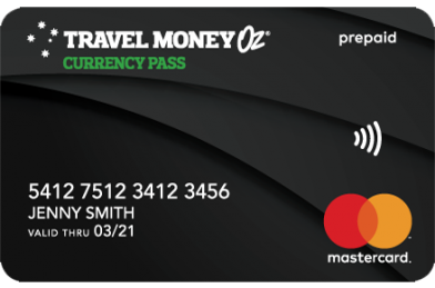 Travel Money Oz Currency Pass Travel Card