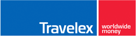 Travelex logo for airport pickup or online currency exchange services it is expensive but convenient
